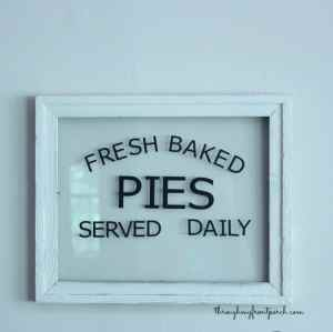 Cricut Explore Fresh Baked Pies Sign