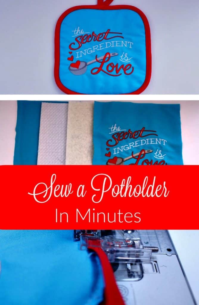 Sew A Potholder In Minutes Tutorial