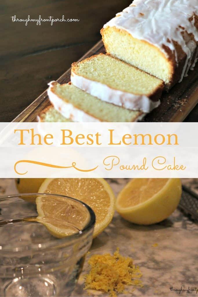 Lemon Pound Cake For National Pound Cake Day Through My