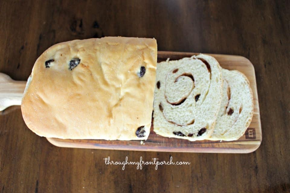 Yummy Swirled Cinnamon Raisin Bread