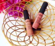 NYX soft matte lip creams in shade Stockholm and Cannes: Review and Swatches