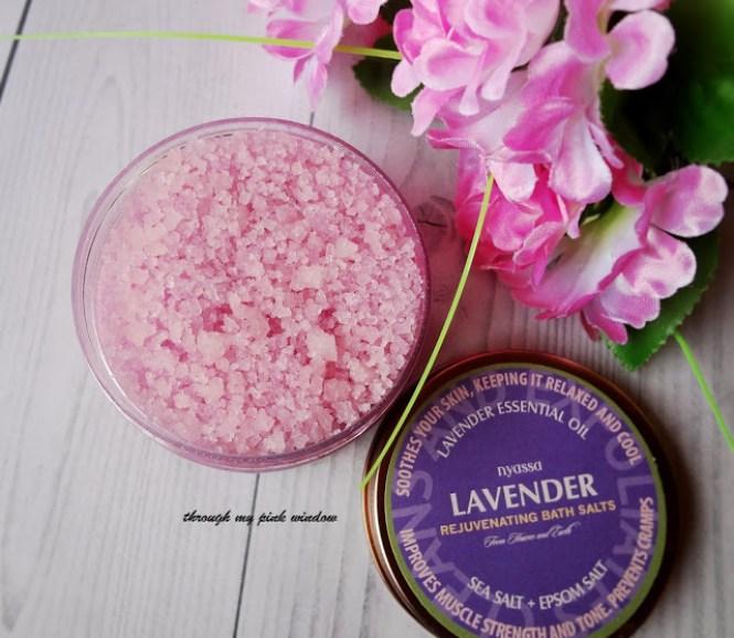 Review of Nyassa French Lavender Soap and Rejuvenating Bath Salts