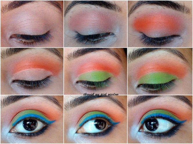 Independence Day Inspire Eye Makeup Look | Tricolor Eye makeup Look