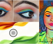 Independence Day Inspired Eye Makeup Look | Tricolor Eye makeup Look