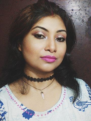 Bronze-y Metallic Eye Liner Look | Festive Look 2| Navaratri and Durgapuja look