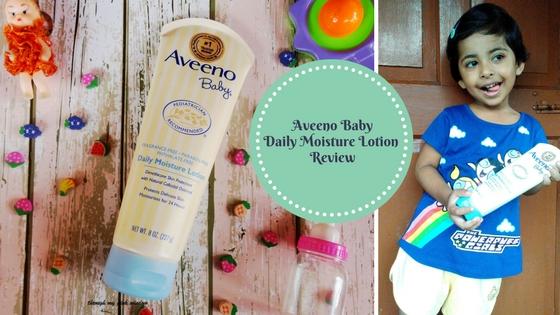 My Baby's Skin loving Aveeno Baby Daily Moisture Lotion   Aveeno Baby Daily Moisture Lotion: Review