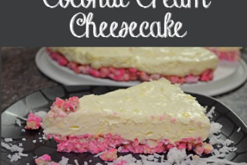 White Chocolate Coconut Cream Cheesecake