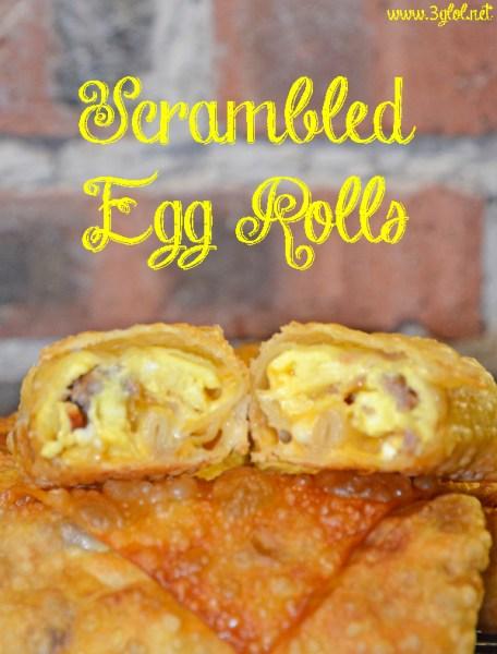 scrambled egg rolls