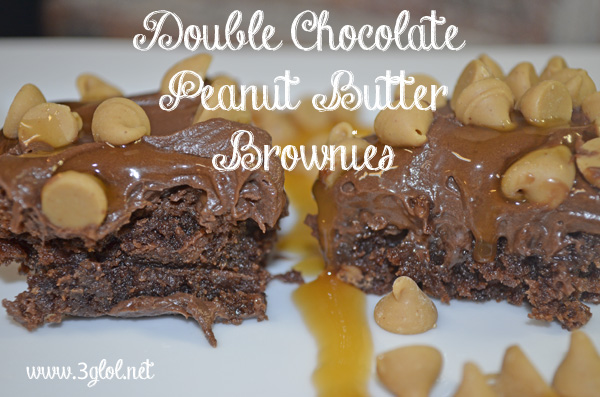 Double Chocolate Peanut Butter Brownies