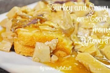 Turkey and Gravy on Toast