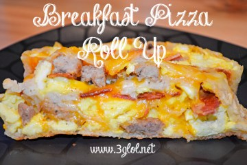 Breakfast Pizza Roll Up