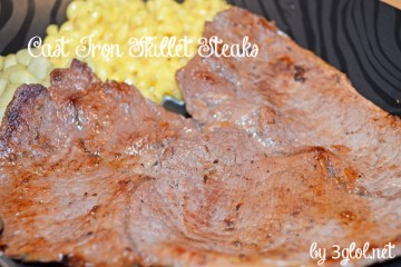 Cast Iron Skillet Steaks