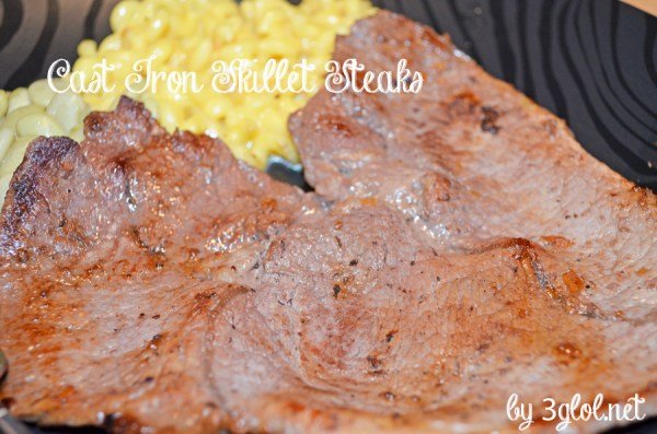 Cast Iron Skillet Steaks