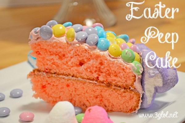 Easter Peep Cake My Way