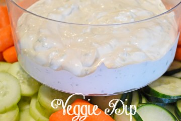 Veggie Dip made with Essential Oils