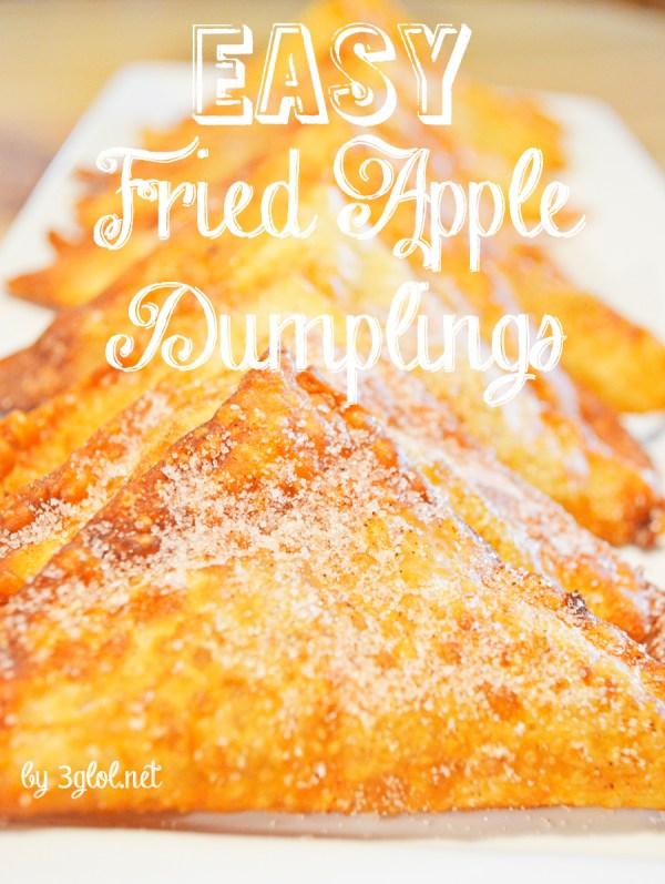 EASY Fried Apple Dumplings