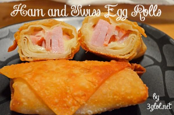 Ham and Swiss Egg Rolls
