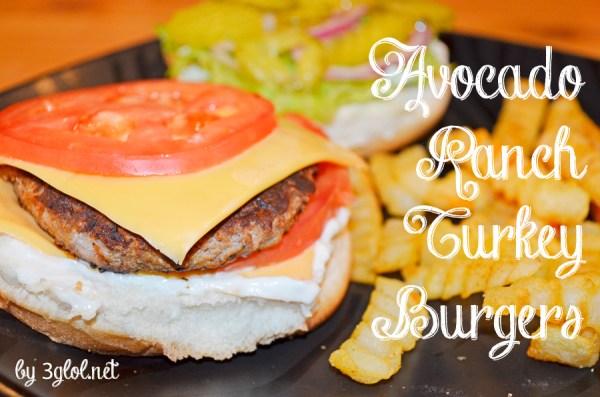 Avocado Ranch Turkey Burgers