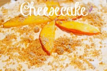 Just Peachy NO BAKE Cheesecake