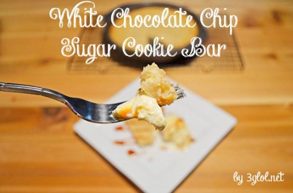 White Chocolate Chip Sugar Cookie Bars