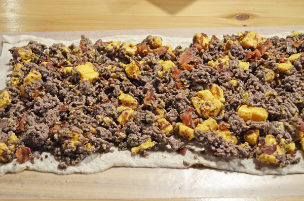 Bacon Cheeseburger Roll Up