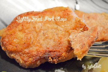 Lightly Coated Fried Thin Pork Chops