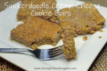 Snickerdoodle Cream Cheese Cookie Bars