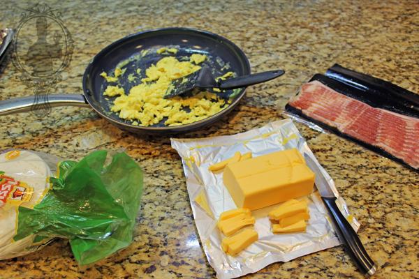Bacon Wrapped Breakfast Tortilla
