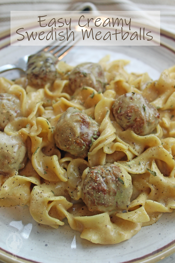 Close up of a serving of Swedish Meatballs on a plate.