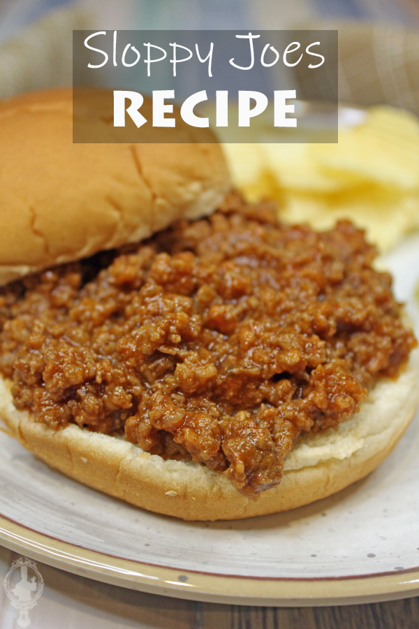 Close up of Sloppy Joes on a bun.