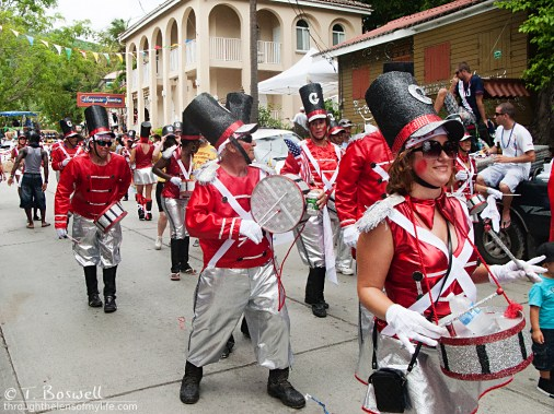 Drummers on parade