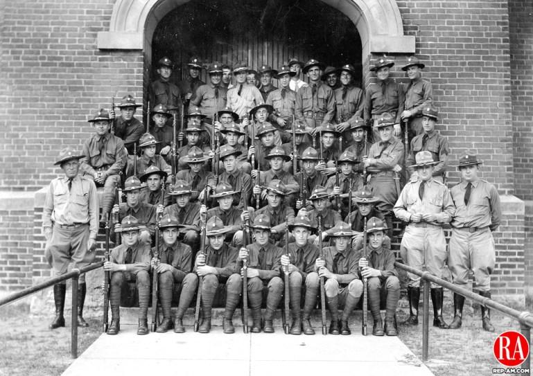 Company L of the National Guard, Torrington, circa 1935.
