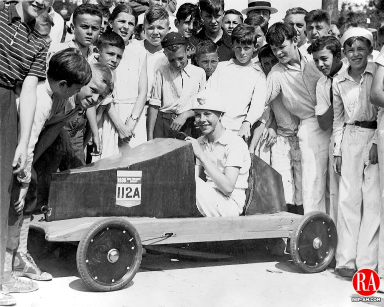 Robert Rowley was the winner at the Soap Box Derby sponsored by the Republican-American on July 19, 1936.
