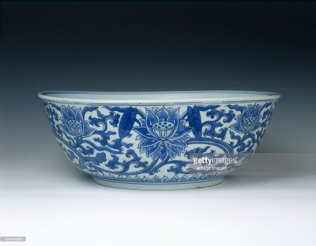 Bowl with Indian Lotus Decoration, Qing dynasty, Kangxi period