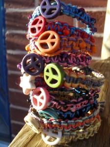 Peace sign bracelets