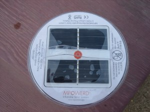 These are the Luci's solar panels. (Yes, yes, I took this photo too.)