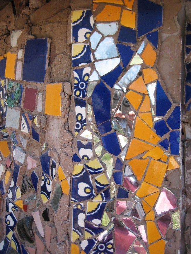 This is one part of the mosaic that covers one wall of the Hippadome. I took this photo.