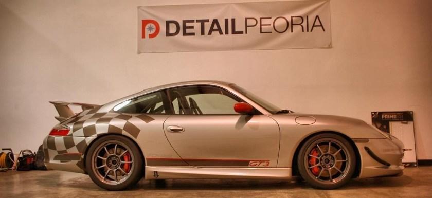 Porsche in the shop