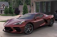C8 Corvette in driveway