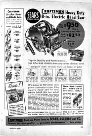 Craftsman saw ad 1950