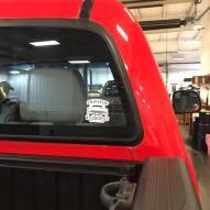 sticker on a truck