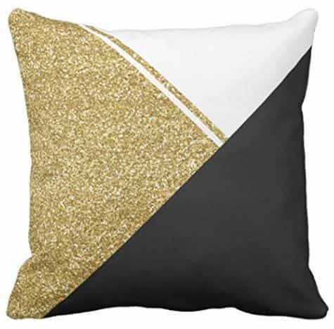 modern throw pillow cover in black