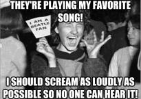 Concert etiquette meme poster