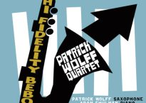 "Cover art for Patrick Wolff Quartet's newest LP, ""Hi-Fidelity Bebop"""