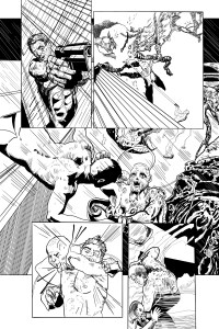 KW Page Art Ink Our Hero Kills One Monster Only to be Attacked By Another