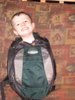 Did I suspect anything when we could carry this boy in a backpack? Yes, I did.