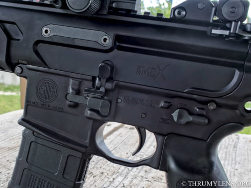 Anyone familiar with the controls on an AR-15 will feel right at home with an MCX.