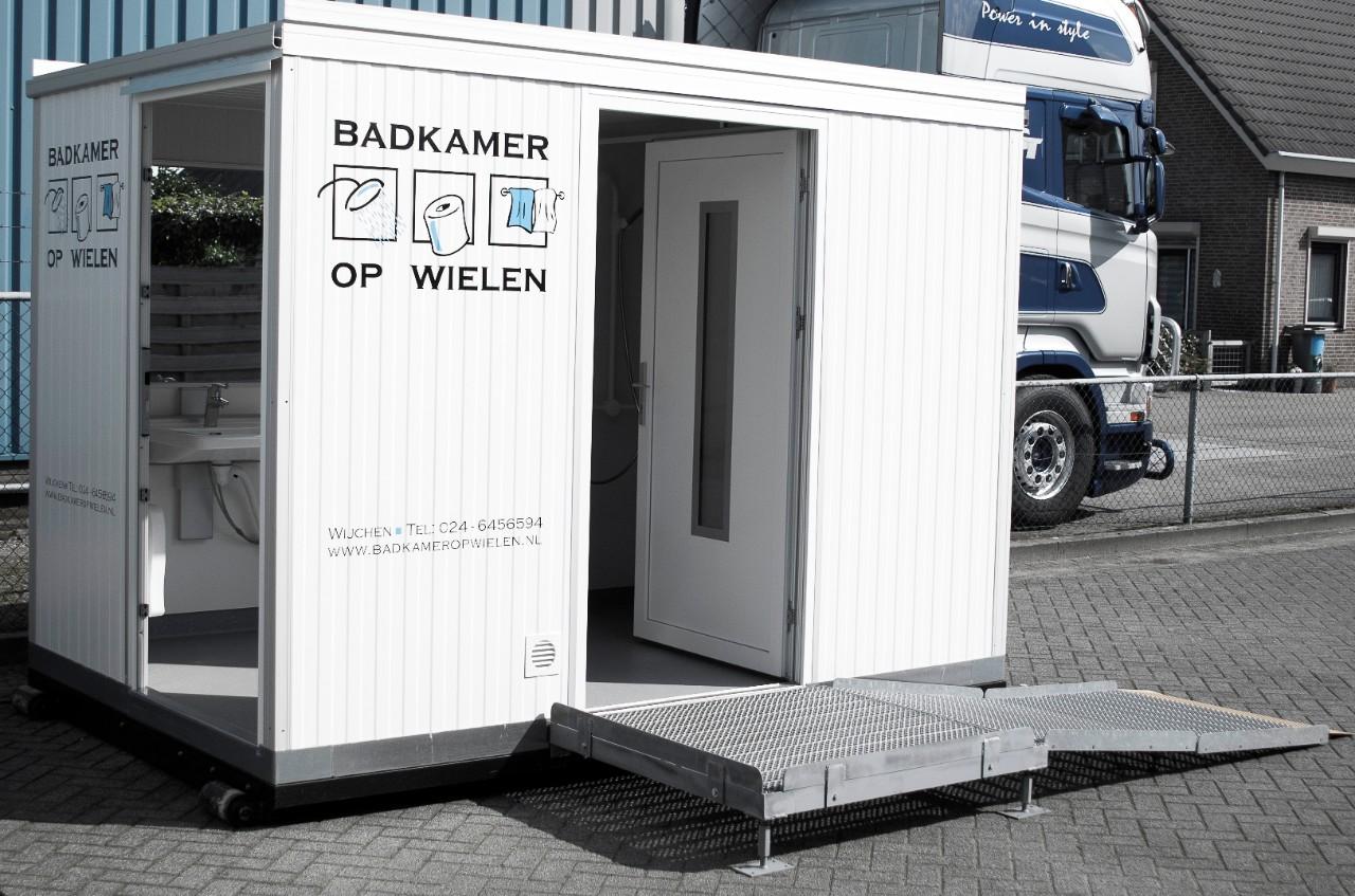 Badkamer op wielen voor tijdelijk of vast