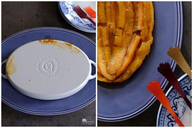 Ik ben gek op tarte tatin en denk zeker te weten dat jullie allemaal de appelversie wel kennen. Hier vervang je de appel dus door banaan, zo simpel als wat.