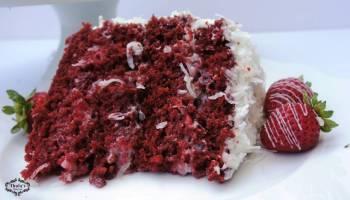 Red Velvet Coconut Strawberry Cake A Super Moist Recipe